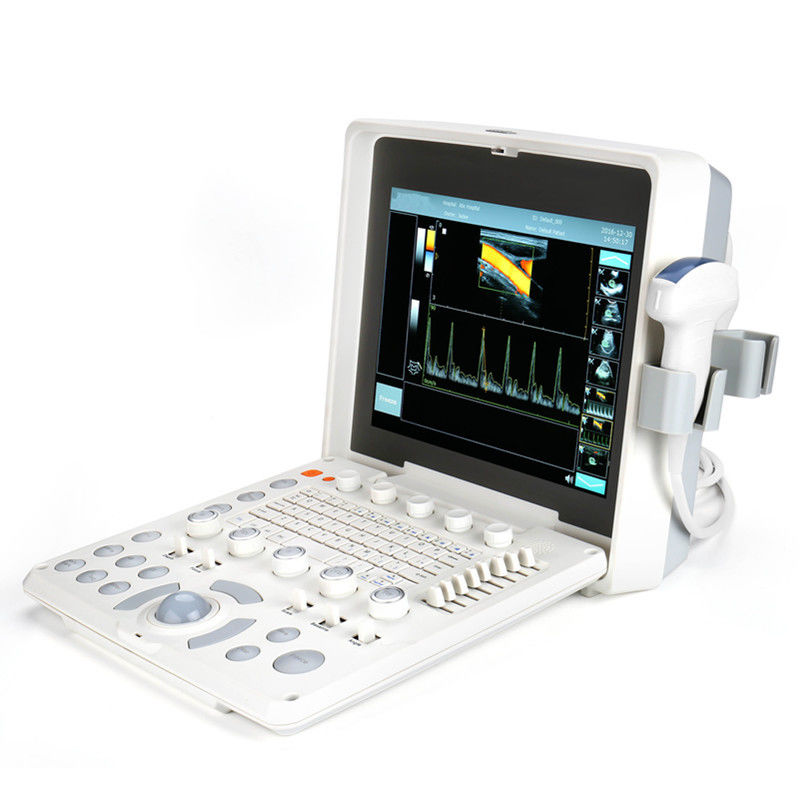 1024 Frame Laptop Color Doppler Device Portable Ultrasound Scanner With 2 Probe Connector